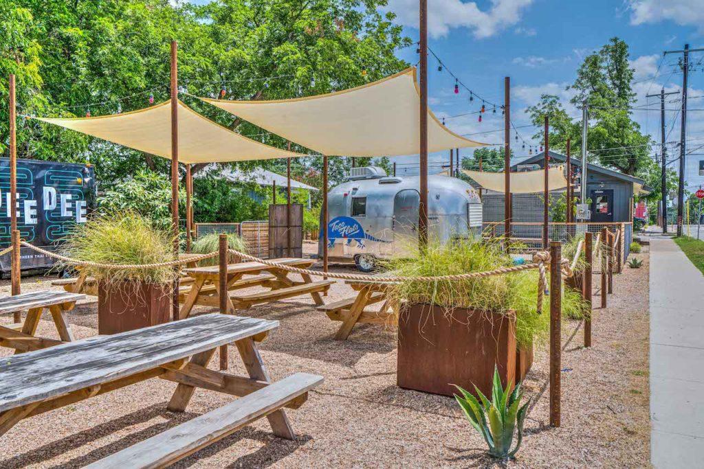 La Holly Cantina - Austin, TX - Taco Flats Airstream Back Patio