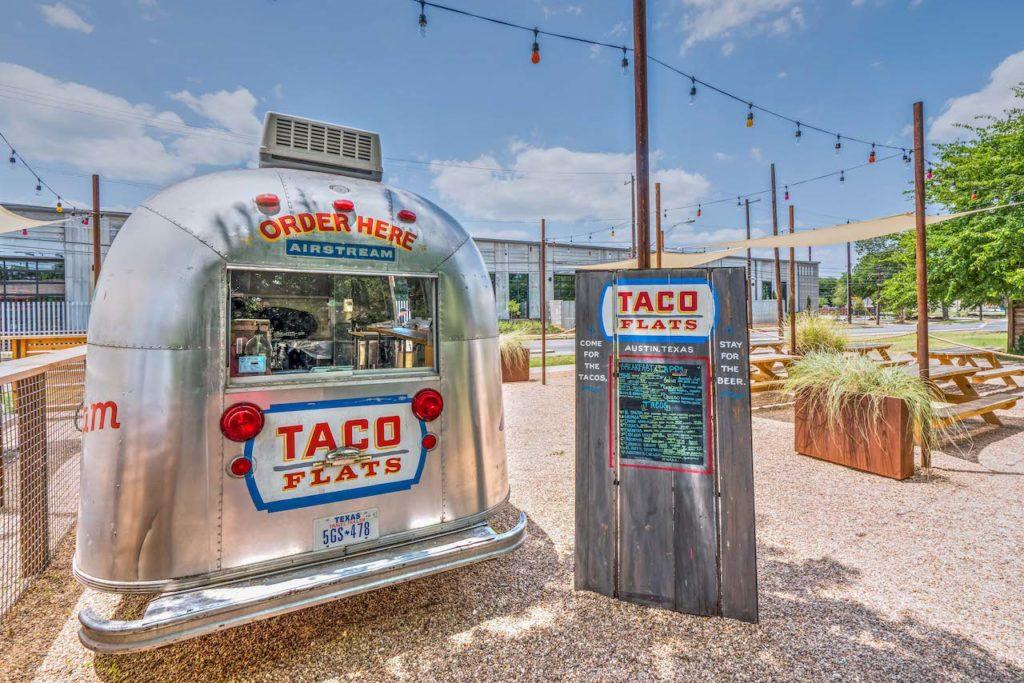 La Holly Cantina - Austin, TX - Taco Flats Airstream front with Menu